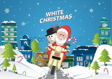 Scooters : Santa on the scooter