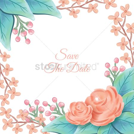 Weddings : Save the date card