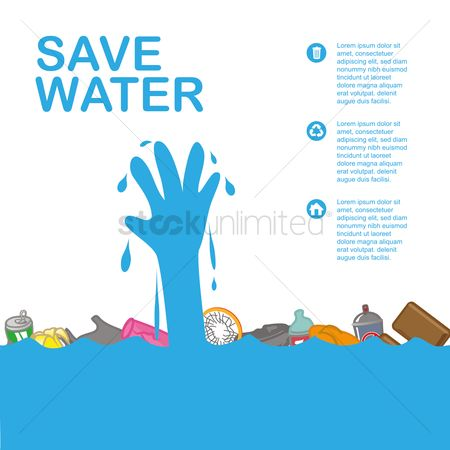 Slippers : Save water infographic presentation