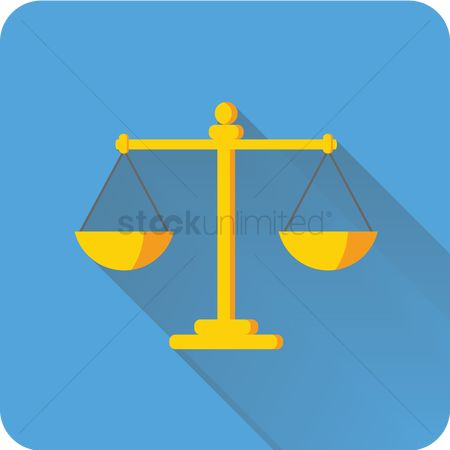 Weighing scale : Scale of justice