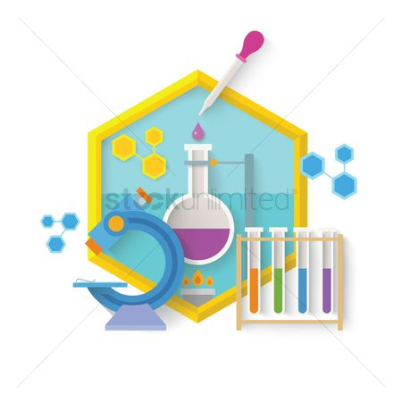Chemicals : Science concept design