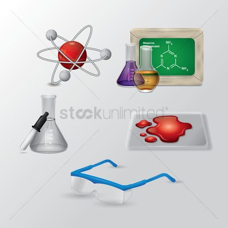 Molecules : Science icons set