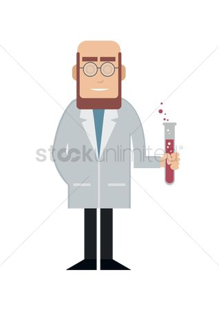 Chemicals : Scientist holding test tube