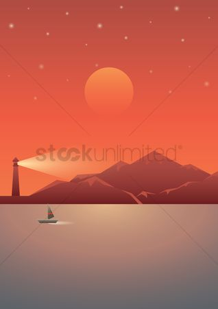 Lighthouses : Sea poster