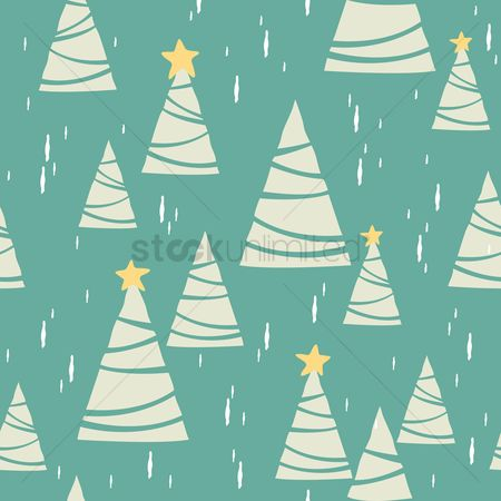 Wallpaper : Seamless christmas trees background