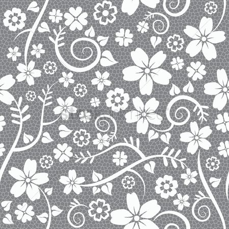 Wallpaper : Seamless lace floral