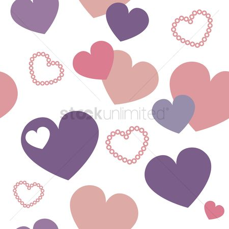 Valentine : Seamless pattern of hearts