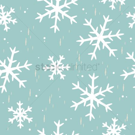 Season : Seamless snowflakes background