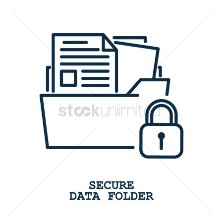 Password : Secure data folder concept