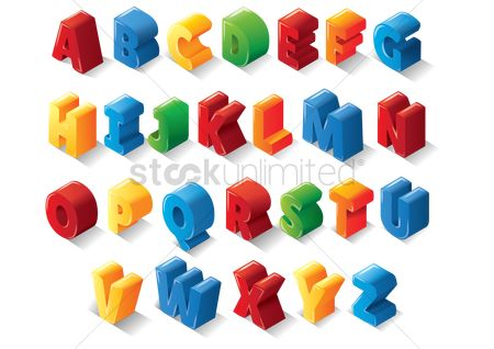 Fonts : Set of 3d alphabets