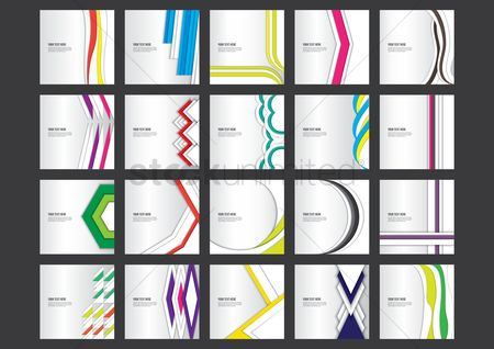 Geometrics : Set of abstract backgrounds