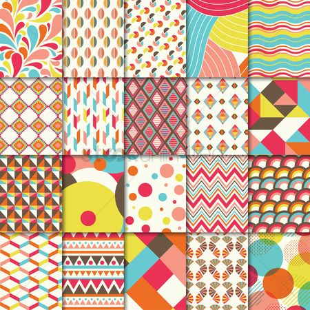 Zig zag : Set of abstract backgrounds