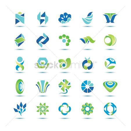 Style : Set of abstract icons