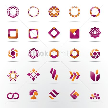 Shutters : Set of abstract logo elements
