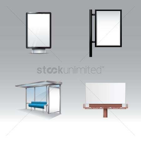 Signages : Set of advertising billboards
