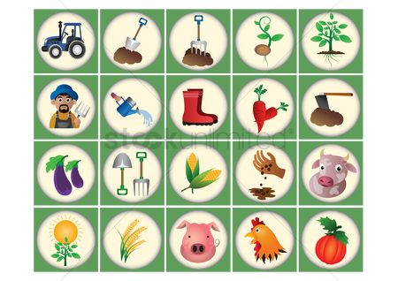 Wheats : Set of agriculture icons