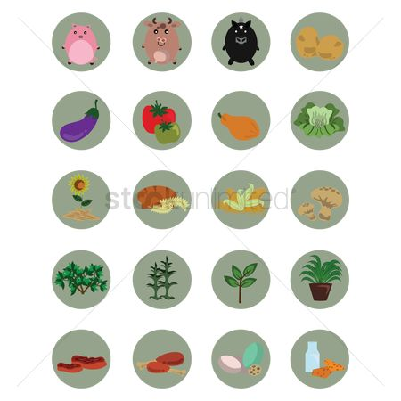 Cookies : Set of agriculture icons