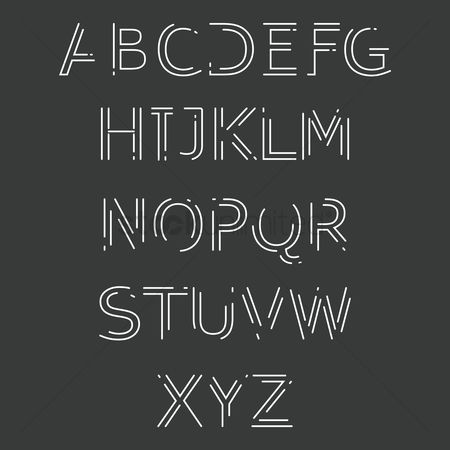 Typographics : Set of alphabet icons