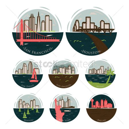 New york : Set of america states