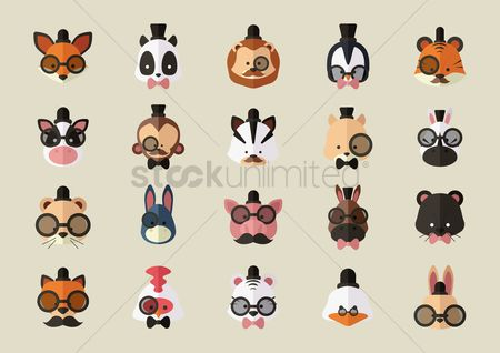 Character : Set of animals