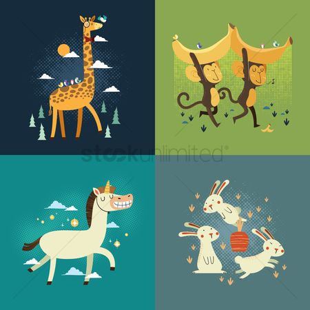 Moon : Set of animals