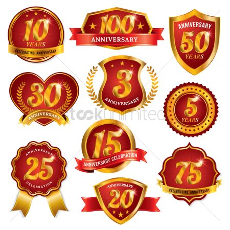 Laurel : Set of anniversary labels
