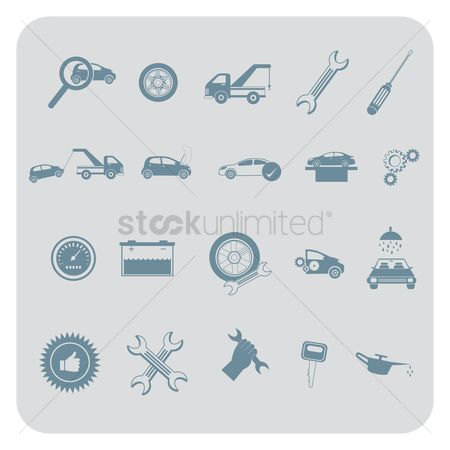Car speedometer : Set of automobile items