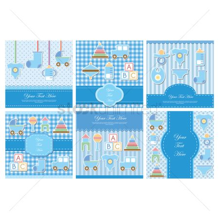 Sock : Set of baby items card