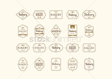 Wheats : Set of bakery labels