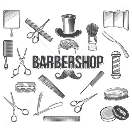 Tools : Set of barber icons