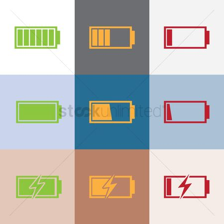 Charging icon : Set of batteries