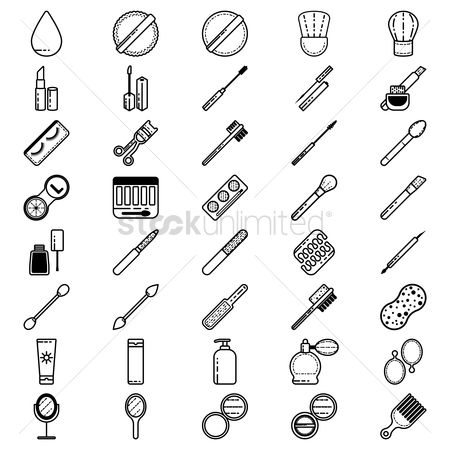 Brushes : Set of beauty icons