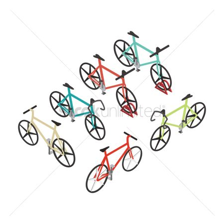 Recreation : Set of bicycle icons