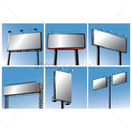 Signages : Set of billboards