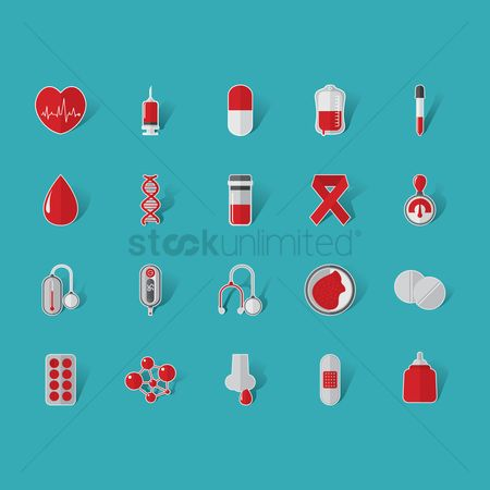 Molecules : Set of blood icons