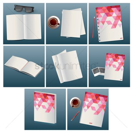 Journals : Set of book mockups
