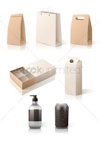 Milk : Set of boxes and packages