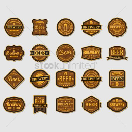 Wheats : Set of brewery label