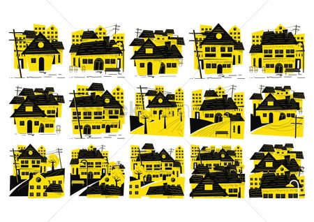 Sold : Set of building icons