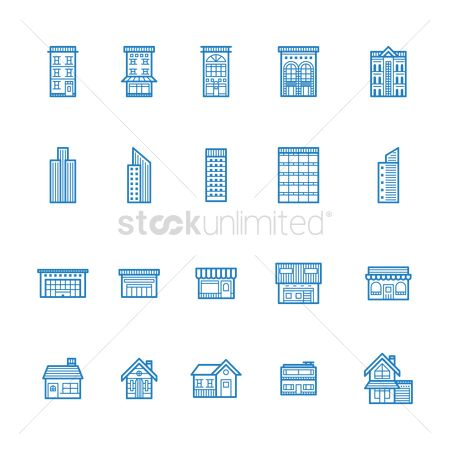 Awning : Set of buildings