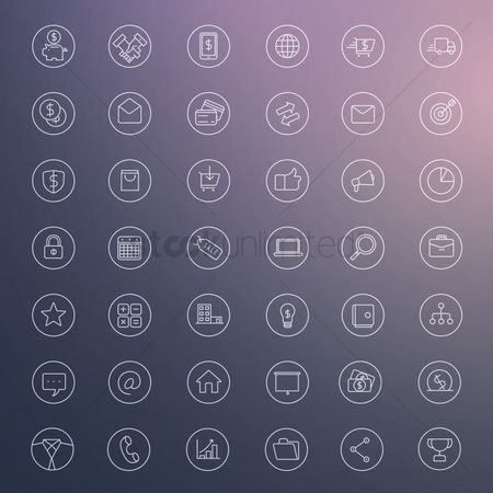 Shopping cart : Set of business icons