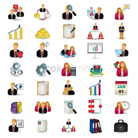 Setting : Set of business icons