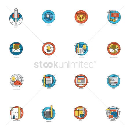Reward : Set of business icons