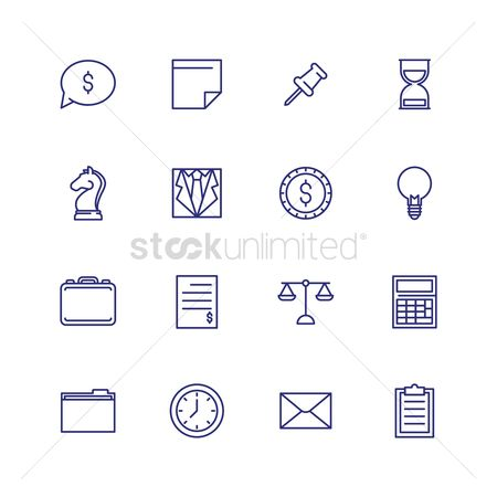 Sand clock : Set of business icons
