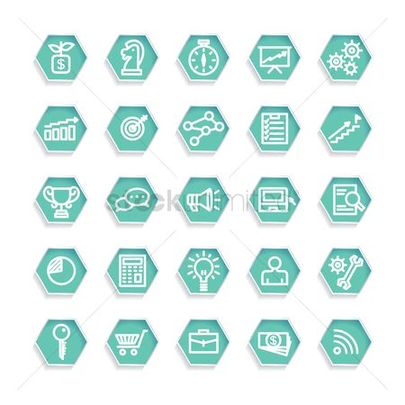 Trolley : Set of business strategy icons