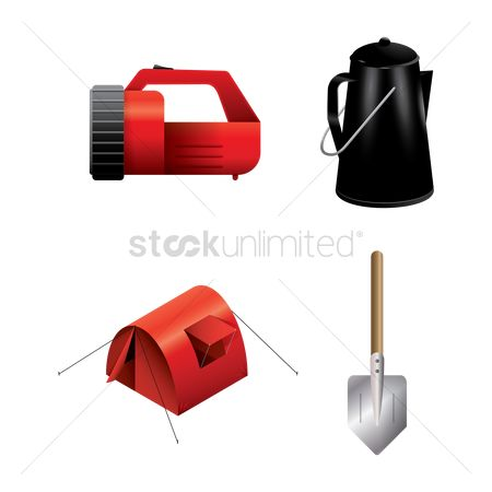 Hiking : Set of camping equipment