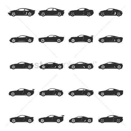 Luxuries : Set of car icons