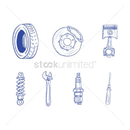 Spanner : Set of car parts