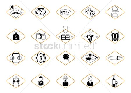 Casinos : Set of casino icons