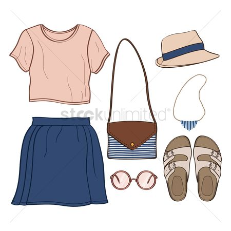 Skirt : Set of casual clothings